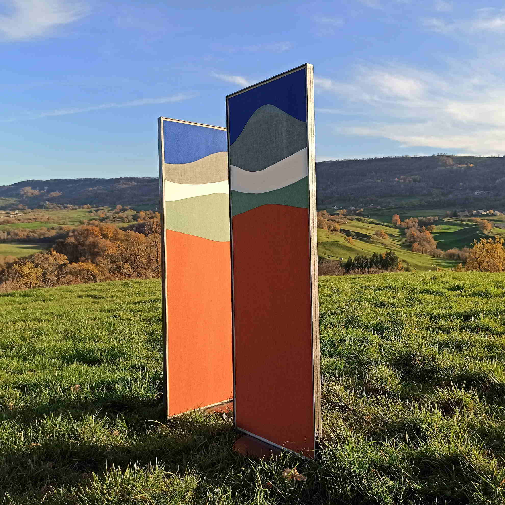 """Vantaux """"Panoramique"""" indépendants © Atelier Marlène Vidal"""