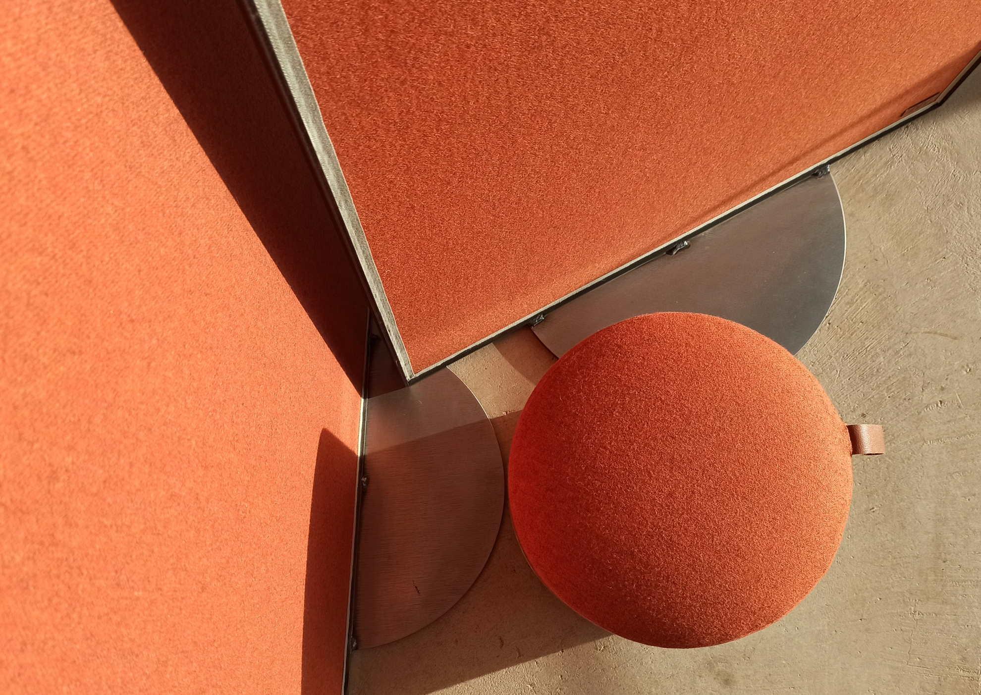 """Piétements disques d'acier """"Panoramique"""" © Atelier Marlène Vidal"""