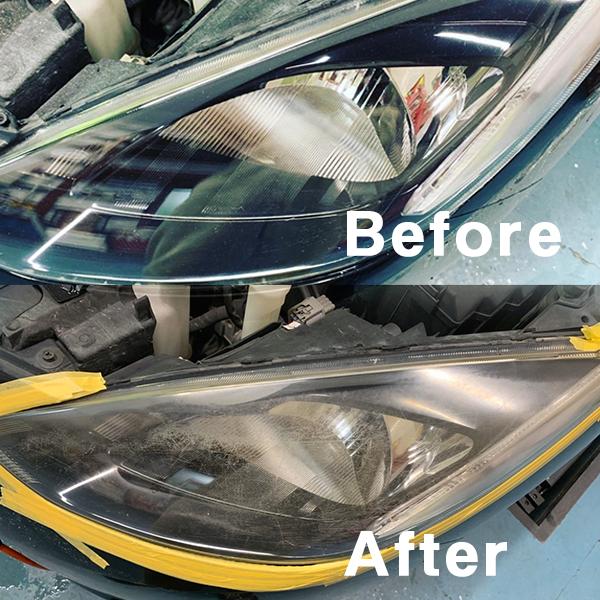 ヘッドライトスチーマー:ヘッドライトの黄ばみや汚れを除去できます