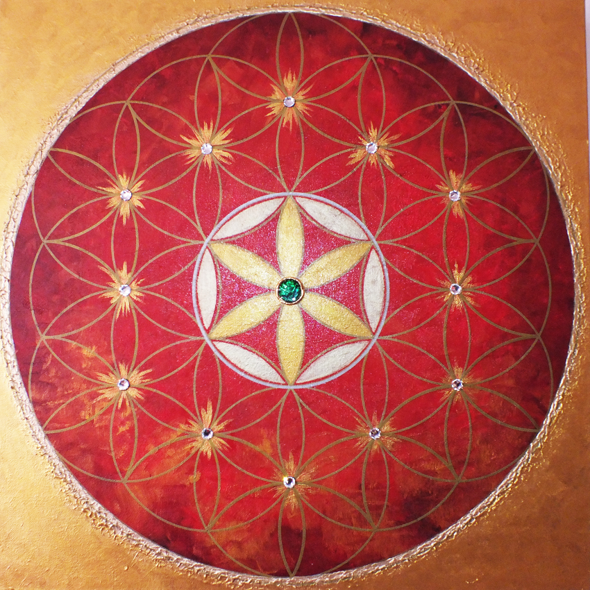 """""""RED FLOWER OF LIFE"""""""