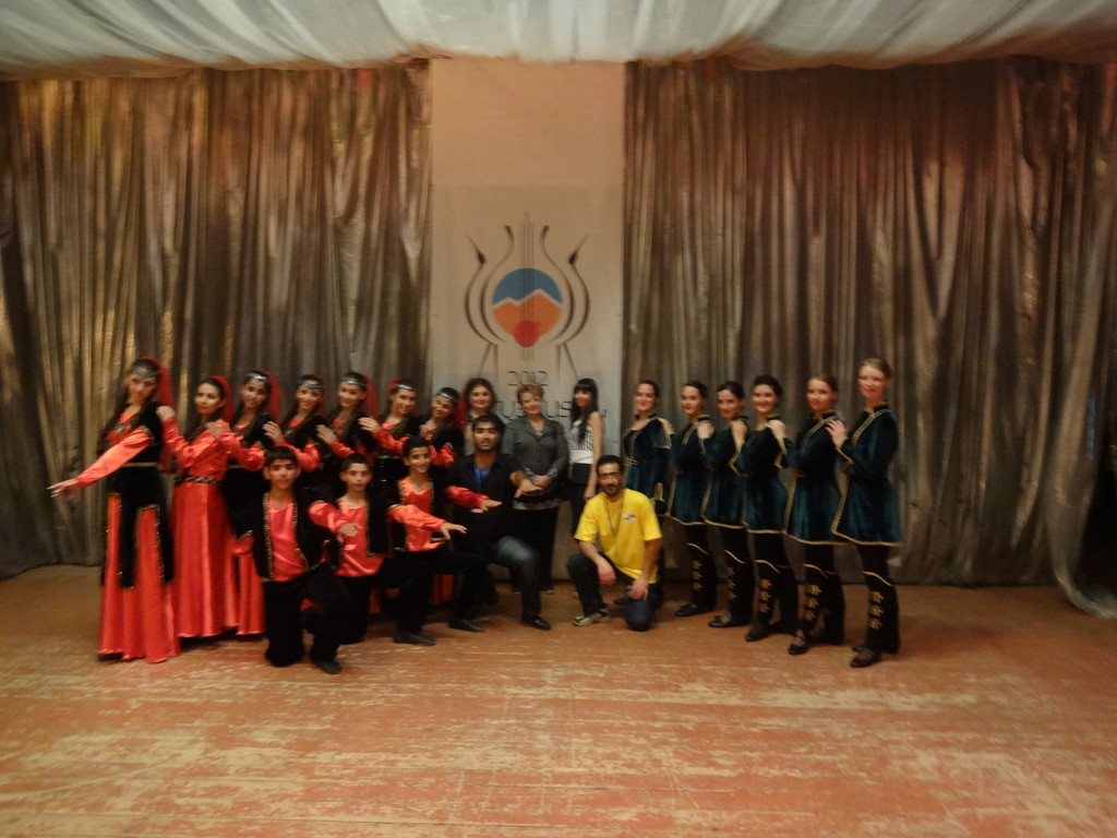 After the performance with ensemble from Moscow