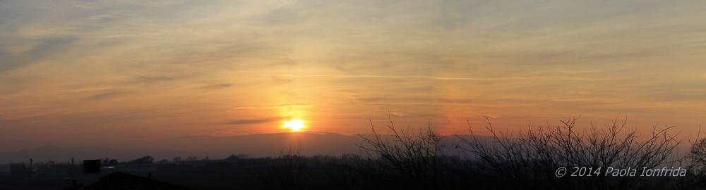 Panoramica tramonto
