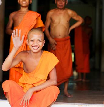 Mönche in Kampong Speu