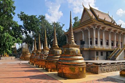 Kambodscha, Phnom Penh, goldenen Stupa