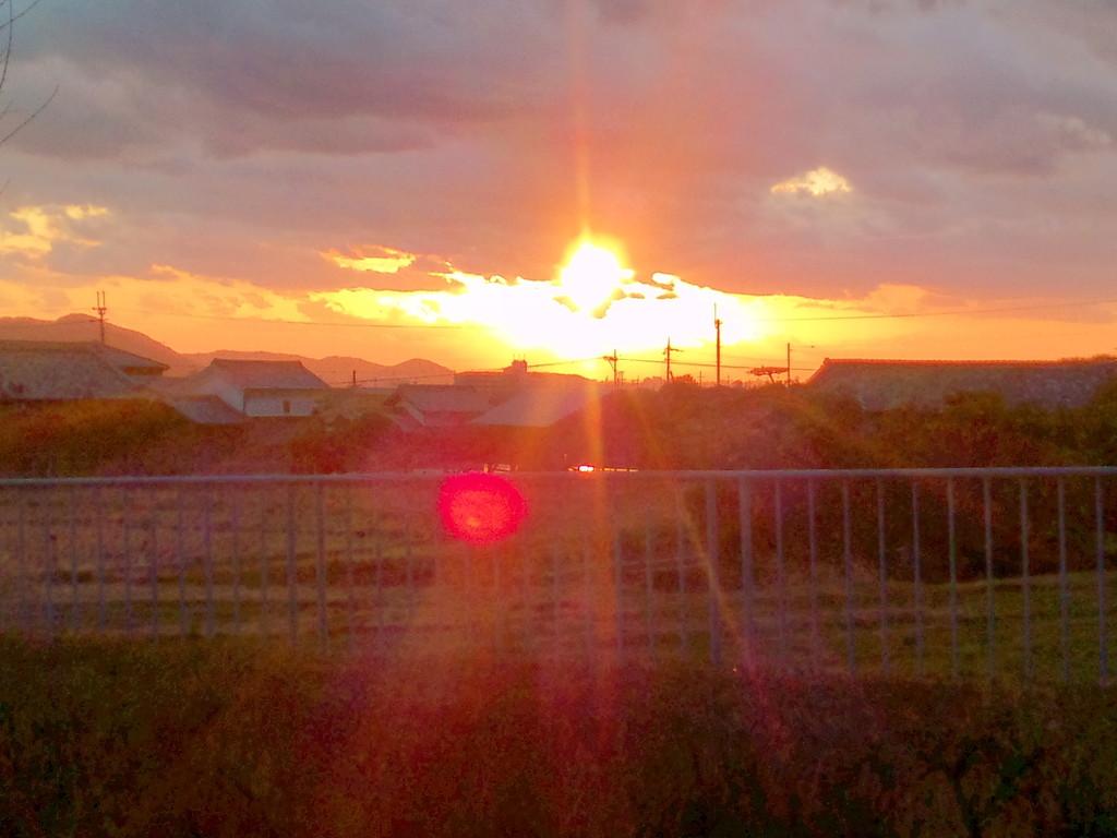 2枚目(^^♪  本当は太陽がはっきり見えたのに形が写ってないのが残念。。。