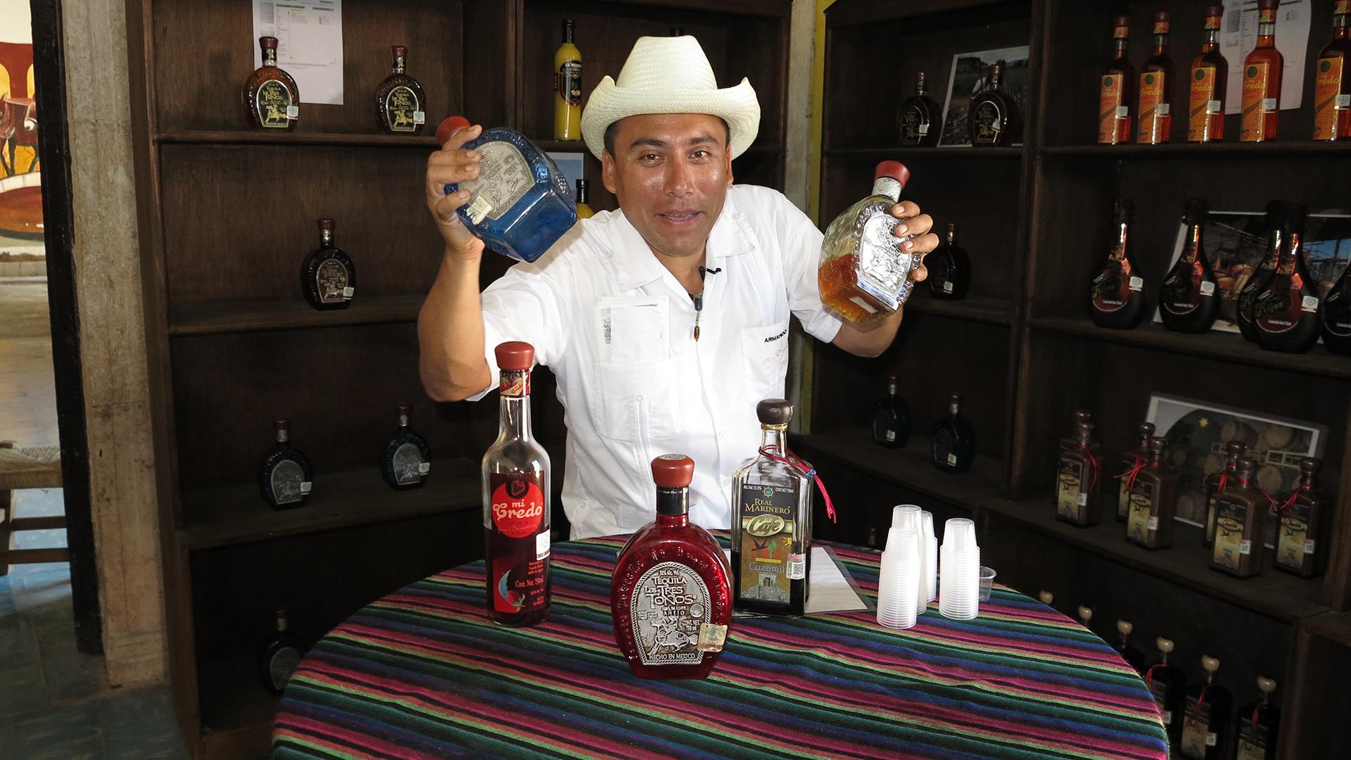 Mexiko: Gratis-Tequila & Baden beim Tempel
