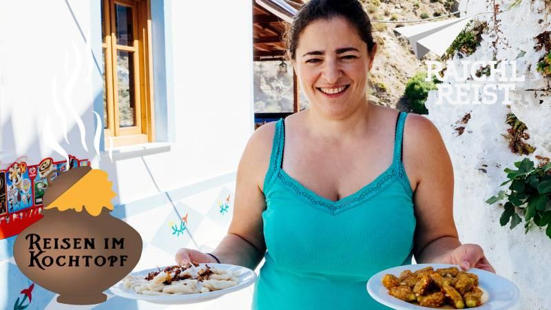 Griechenland: Insel-Pasta und gefüllte Zucchiniblüten aus Karpathos