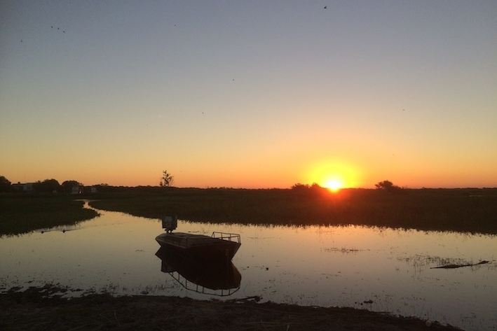 Sonnenuntergang am Paranà.