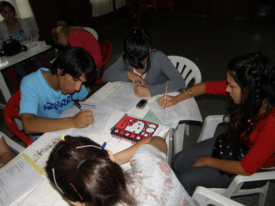 Iropé-StudentInnen bei einem Treffen in Diamante