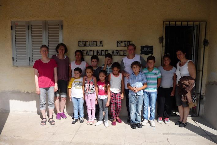 Besuch in einer sehr kleinen Schule in der Nähe von Las Cuevas.