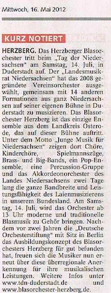 Harzkurier, 16.05.2012