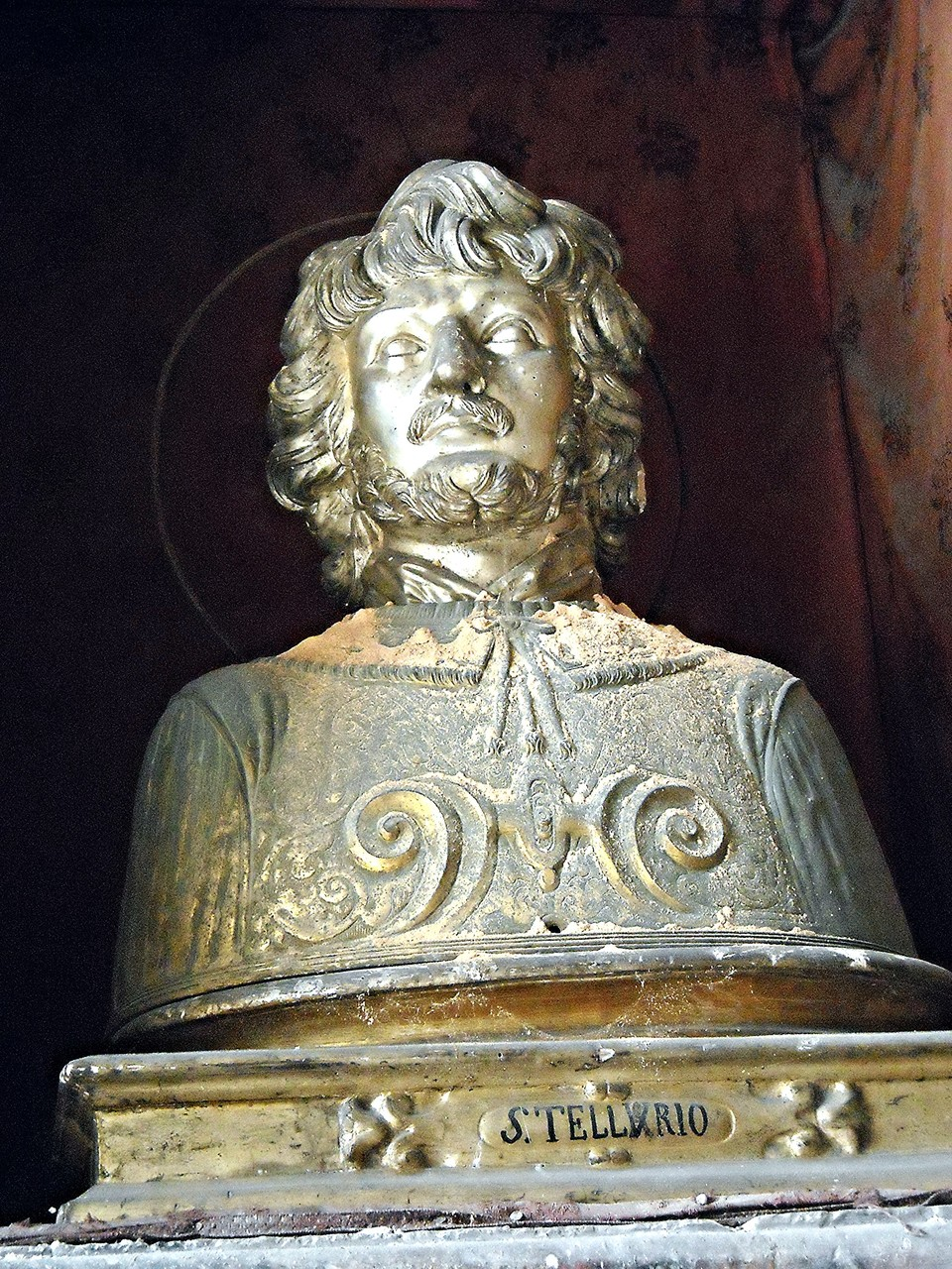 Busto-reliquiario di S. Tellurio martire