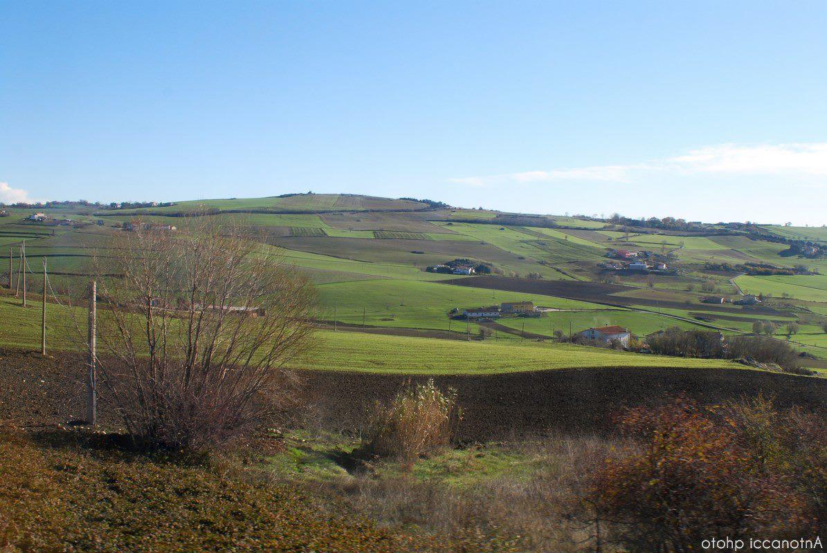 le verdi colline del Molise centrale