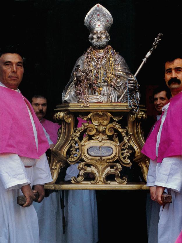 Busto argenteo di S. Pardo in trono