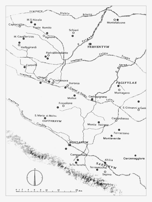 Territorio dei Sanniti a nord del Matese