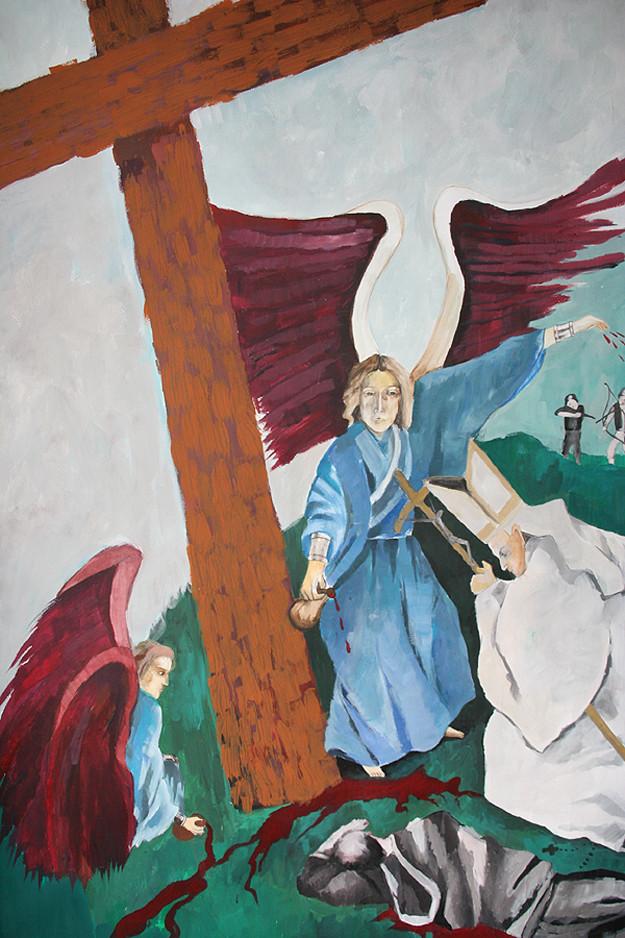 Visione di Fatima Vescovo vestito di Bianco