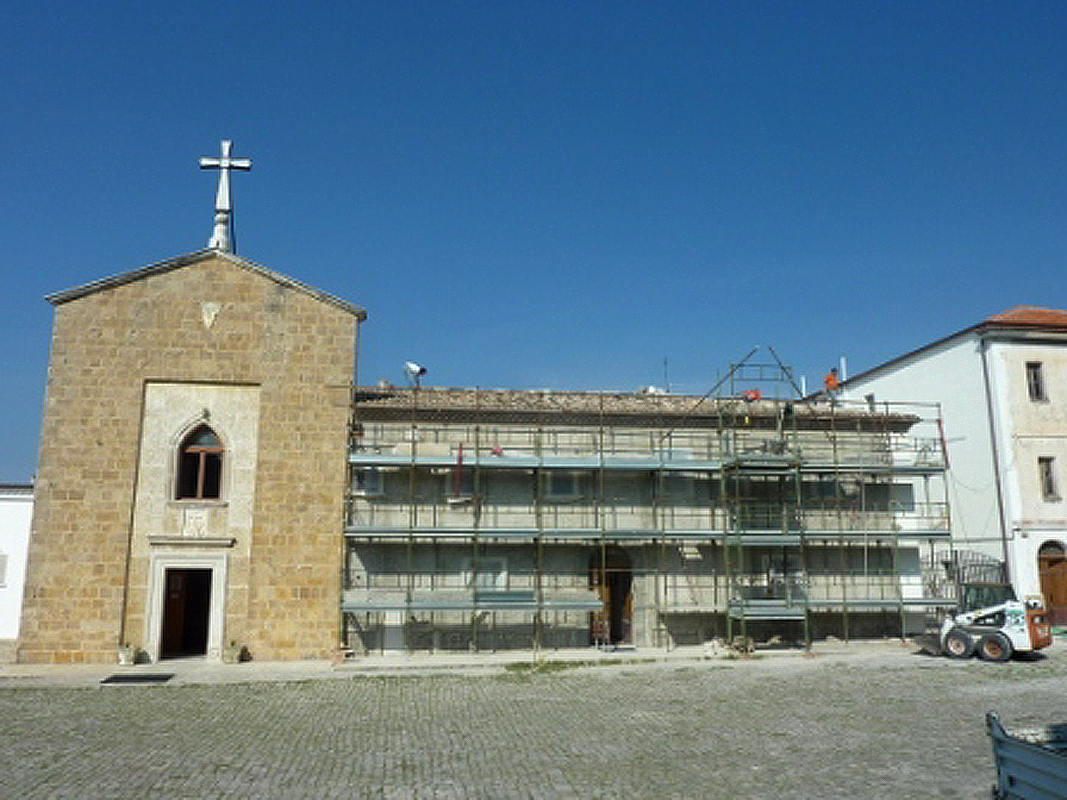I lavori di restauro del 2011, per il ripristino dell'aspetto originario