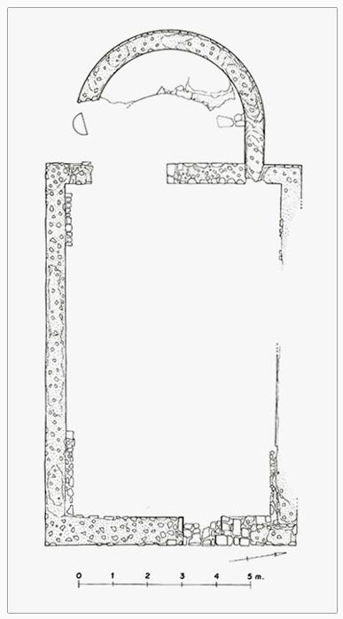 Larino pianta Basilica paleocristiana