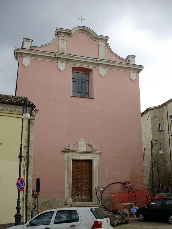 Facciata della Chiesa di S. Francesco (XVIII sec.)