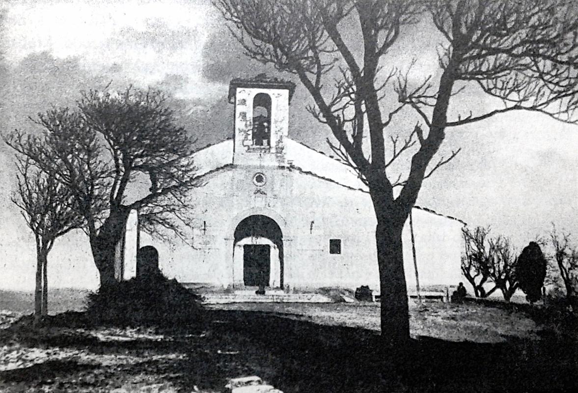 La chiesa di Santa Maria del Monte, così come si presentava prima dei lavori di restauro del 1911
