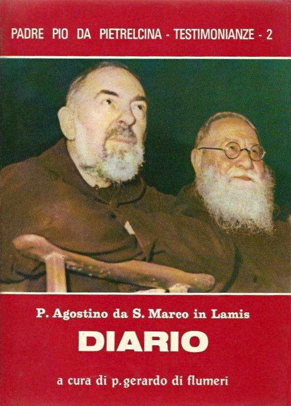 """La copertina della 2ª edizione (identica alla 1ª) del """"Diario"""" di padre Agostino da San Marco in Lamis, edita nel 1975"""