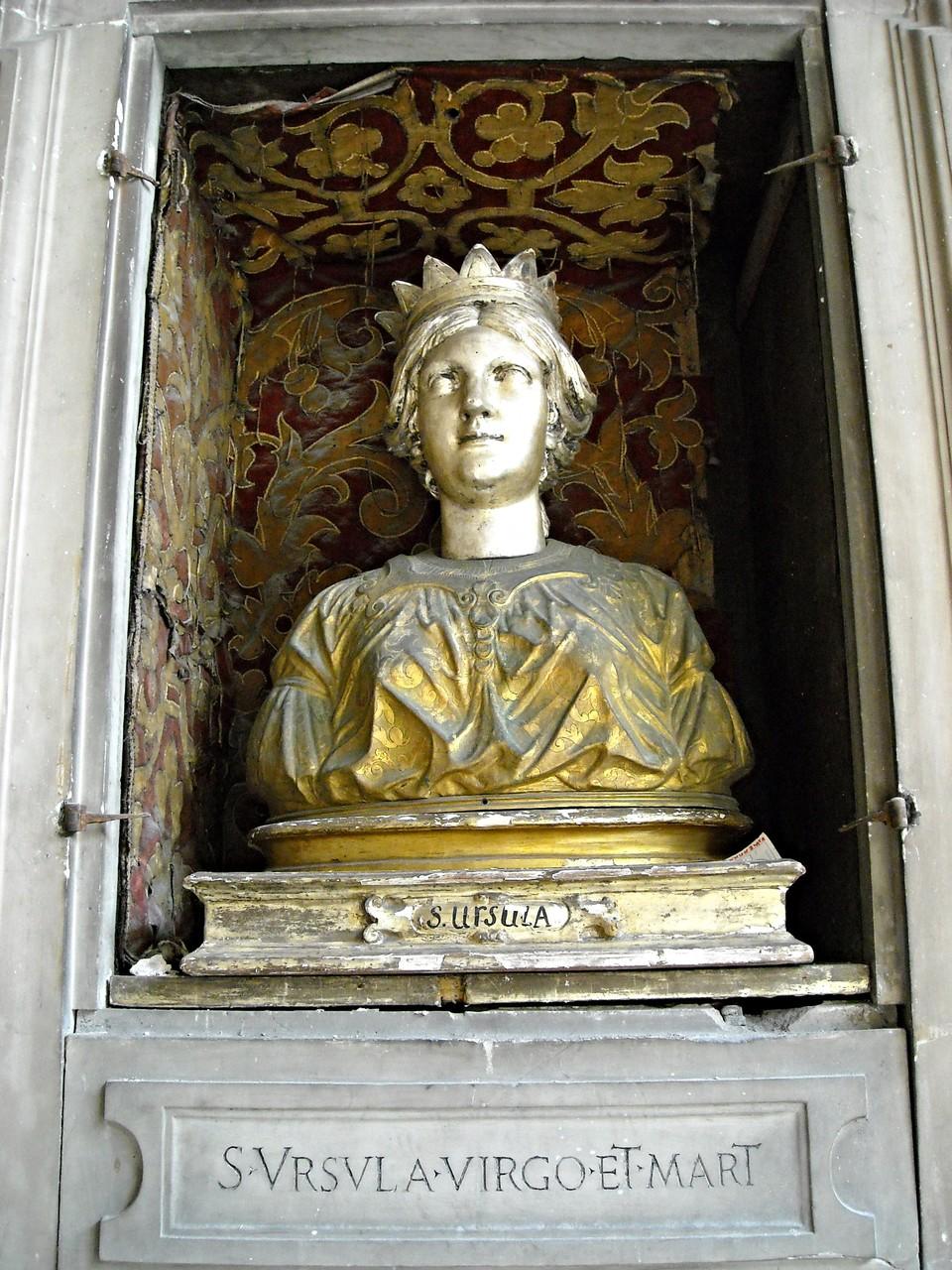 Busto-reliquiario di S. Orsola vergine e martire