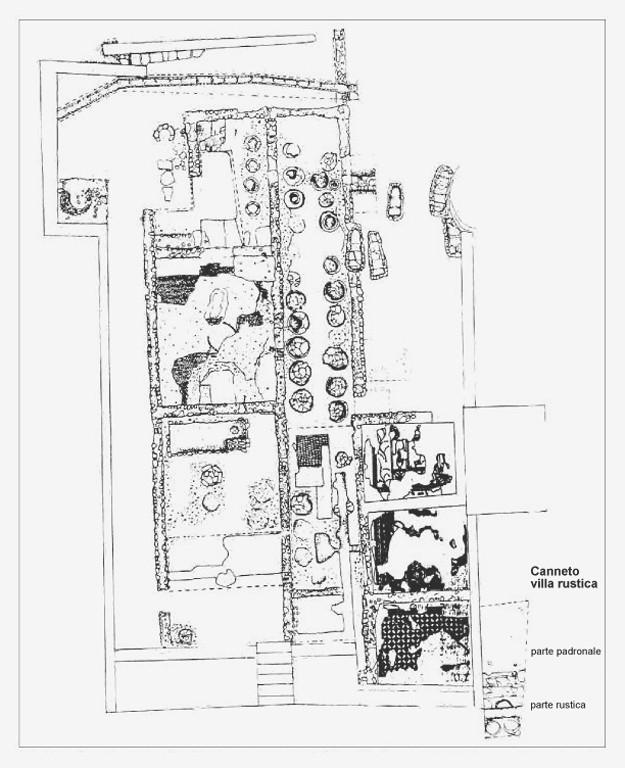 Planimetria della villa rustica di Canneto