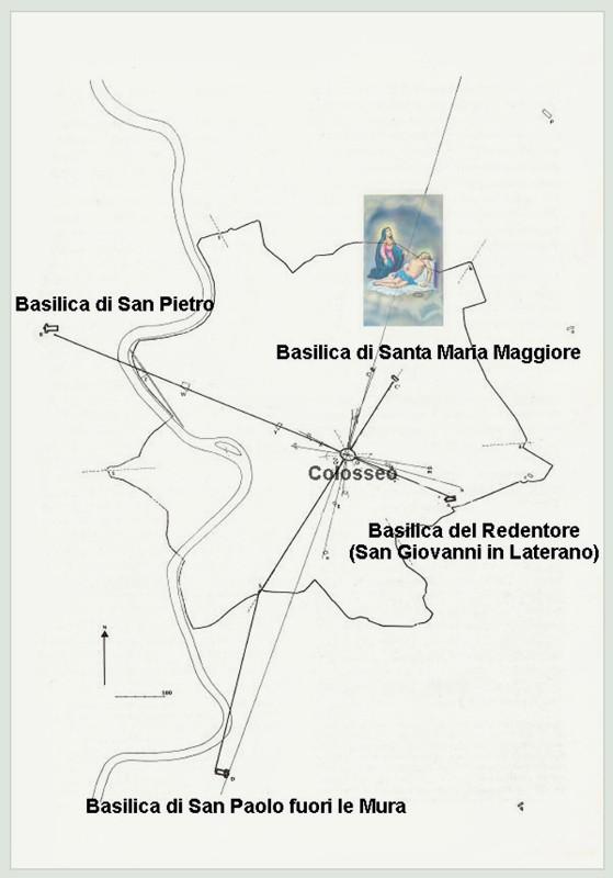 Croce di Basiliche su Roma