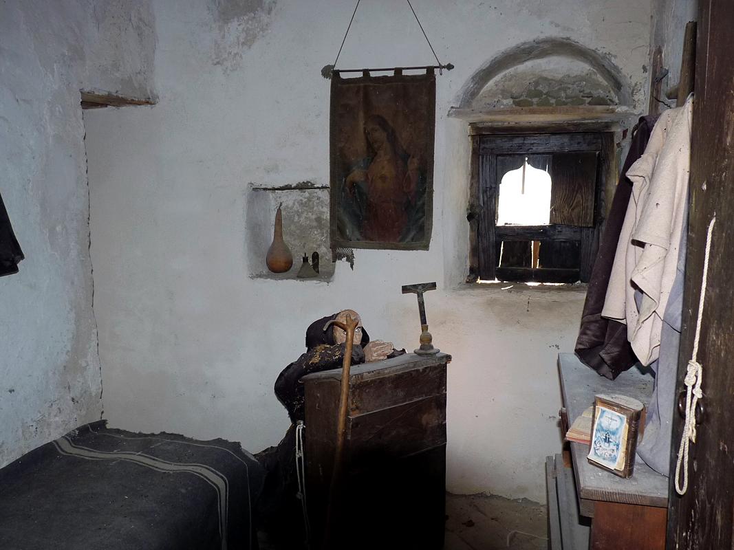 Una cella di un tipico convento dei Cappuccini