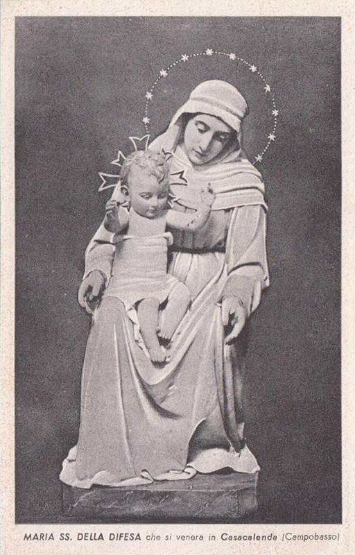 A. DUPRÉ, Maria SS. della Difesa (1901), la versione definitiva del simulacro mariano, giunto in paese la 4ª domenica di settembre del 1901