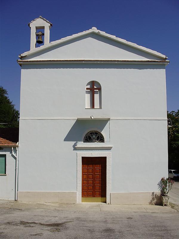 ... la facciata della Cappella intitolata alla Vergine ...
