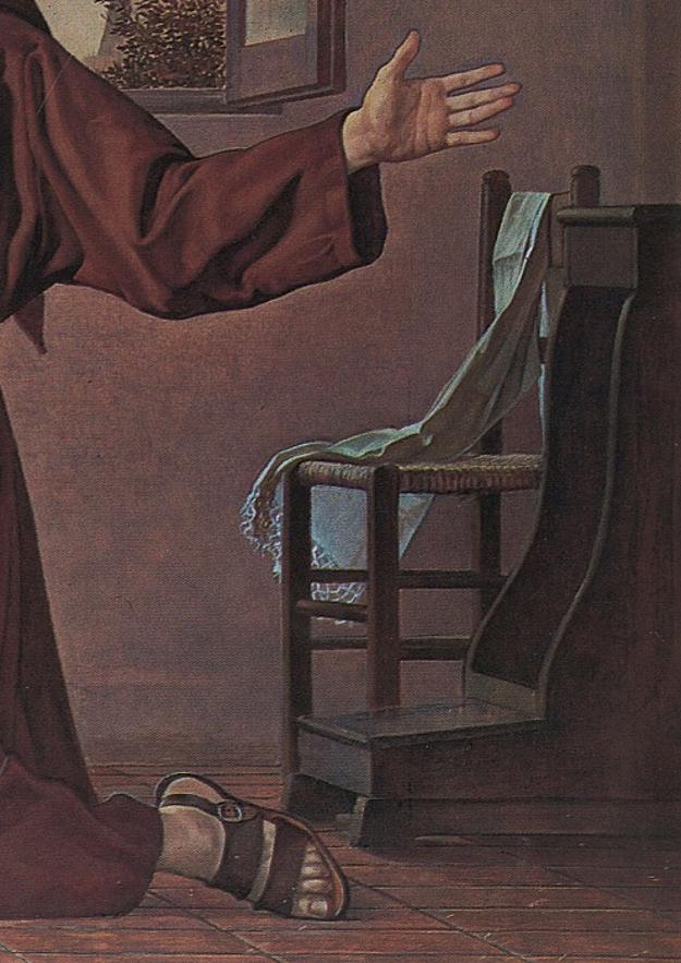 Amedeo Trivisonno Apparizione della Madonna a Padre Pio (1972). Campobasso chiesa di Santa Maria del Monte, particolare