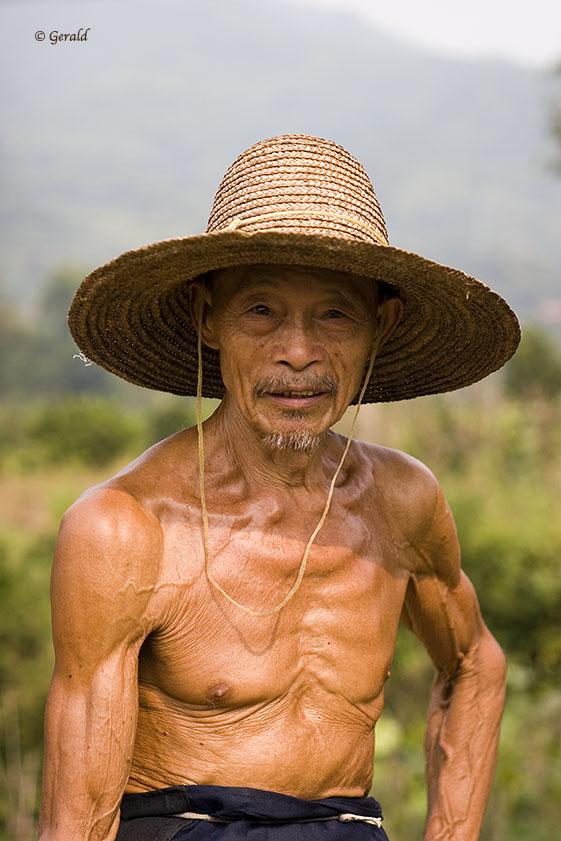 A proud farmer
