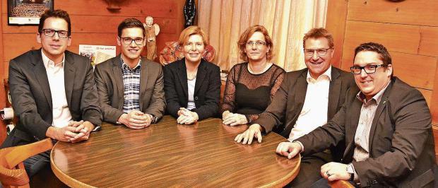 Ivan Louis, Sascha Schmid, Esther Friedli, Linda Riedweg, Toni Brunner, Mirco Gerig