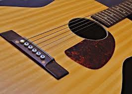 通常のギターのブリッジ