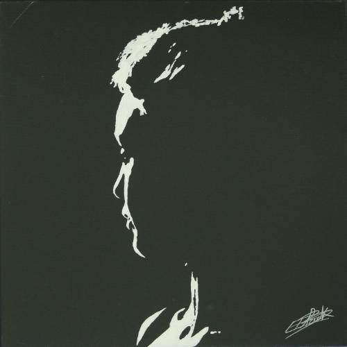 Peinture contemporaine par le peintre erik black représentant un profil de femme - acrylique sur toile