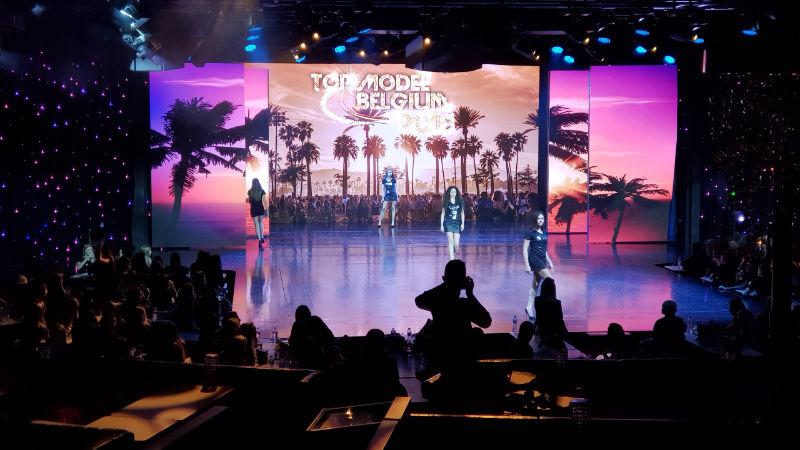 Scène du Lido pour les répétitions du Top Model Belgium
