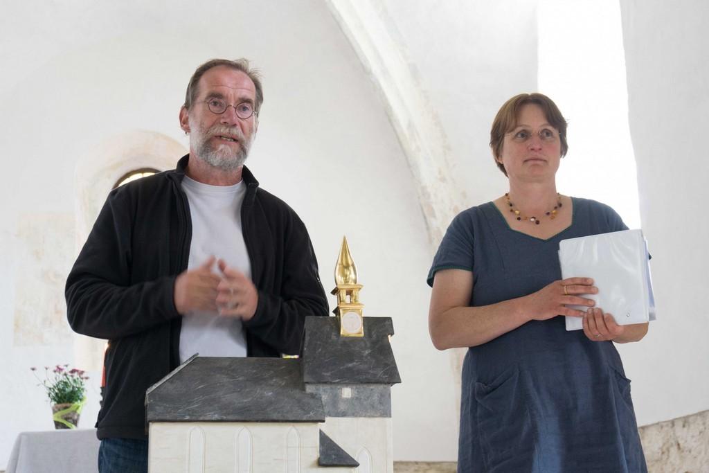 Begrüßung durch Pfarrerin Frau Fritze und Herrn Zollmann