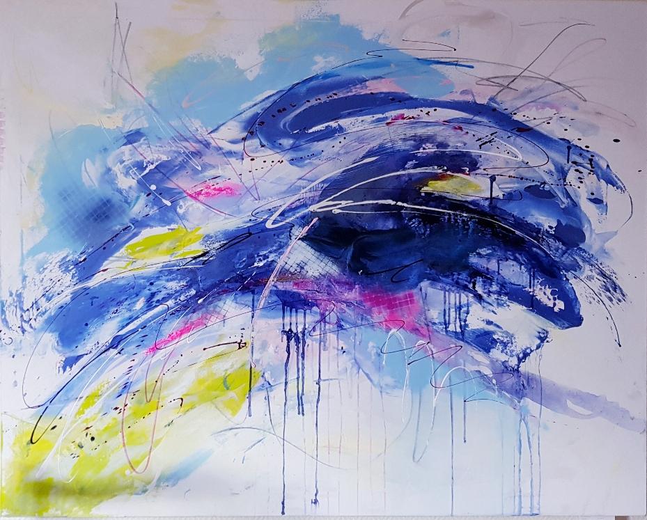 """""""LIGHT BLUE"""" 160x120x4 cm Preis auf Anfrage"""