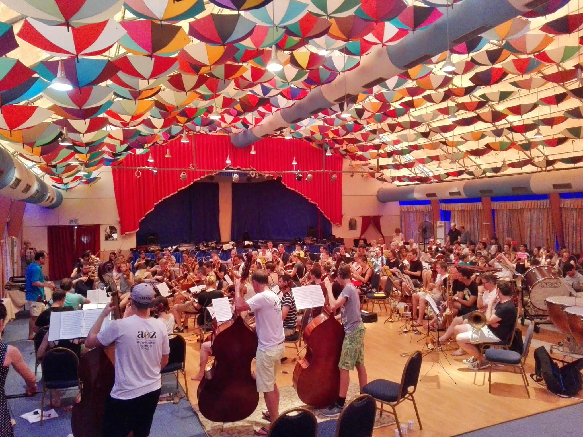 Die erste Probe mit dem Akademischen Orchester Zürich