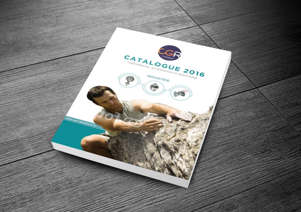 Proposition de couverture catalogue pour la société CGR.