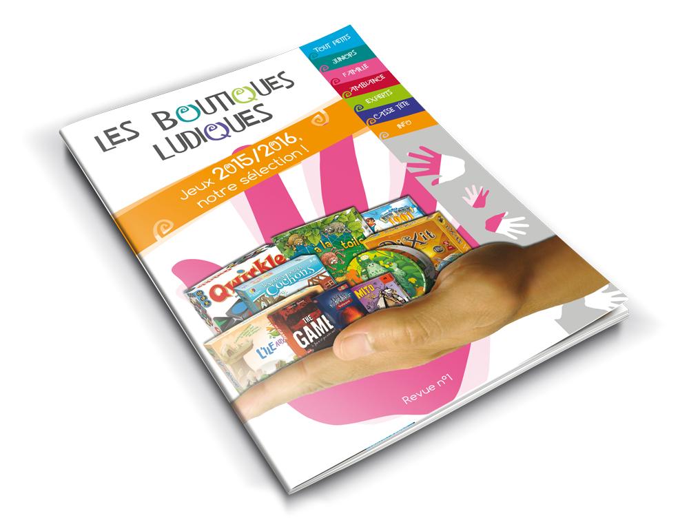 Catalogue réalisé pour le groupement des Boutiques Ludiques.