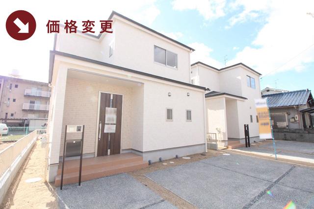岡山県岡山市中区海吉の新築一戸建て分譲住宅の外観 物件詳細ページにリンク