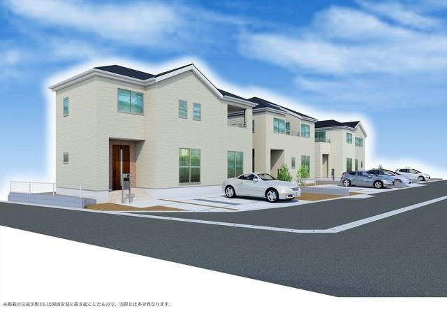 岡山県倉敷市白楽町の新築 一戸建て 分譲住宅の外観写真