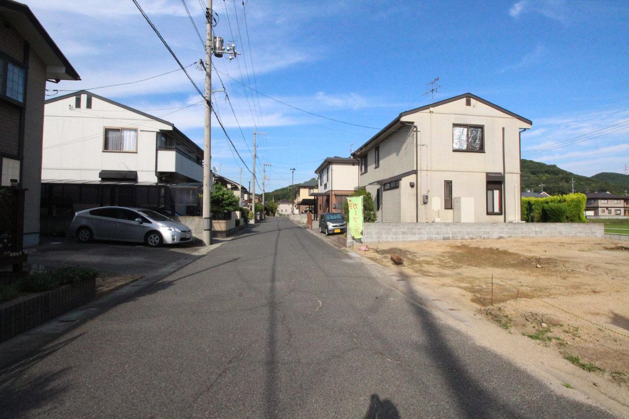 隣接道路(6月下旬撮影)