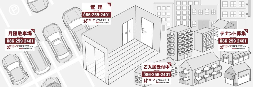 家主・オーナー様向けの物件管理 収益物件 アパート マンション 集合住宅 テナント 月極駐車場