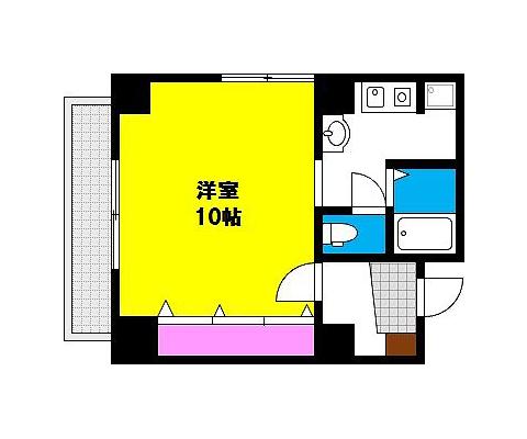 岡山市北区田町の賃貸物件 間取り図