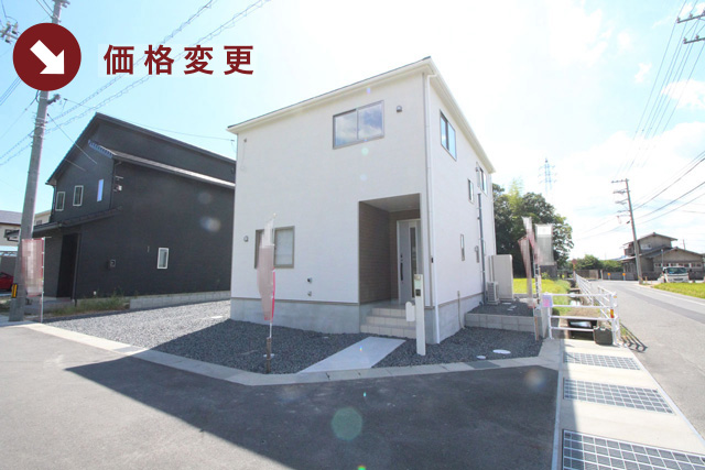 岡山県倉敷市玉島阿賀崎の新築一戸建て分譲住宅の外観 物件詳細ページにリンク