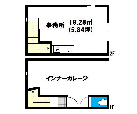 岡山県岡山市北区下伊福上町の賃貸物件 間取り図