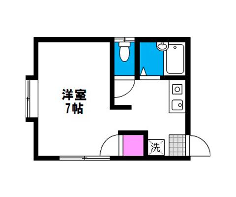 岡山県岡山市北区絵図町の賃貸物件 間取り図